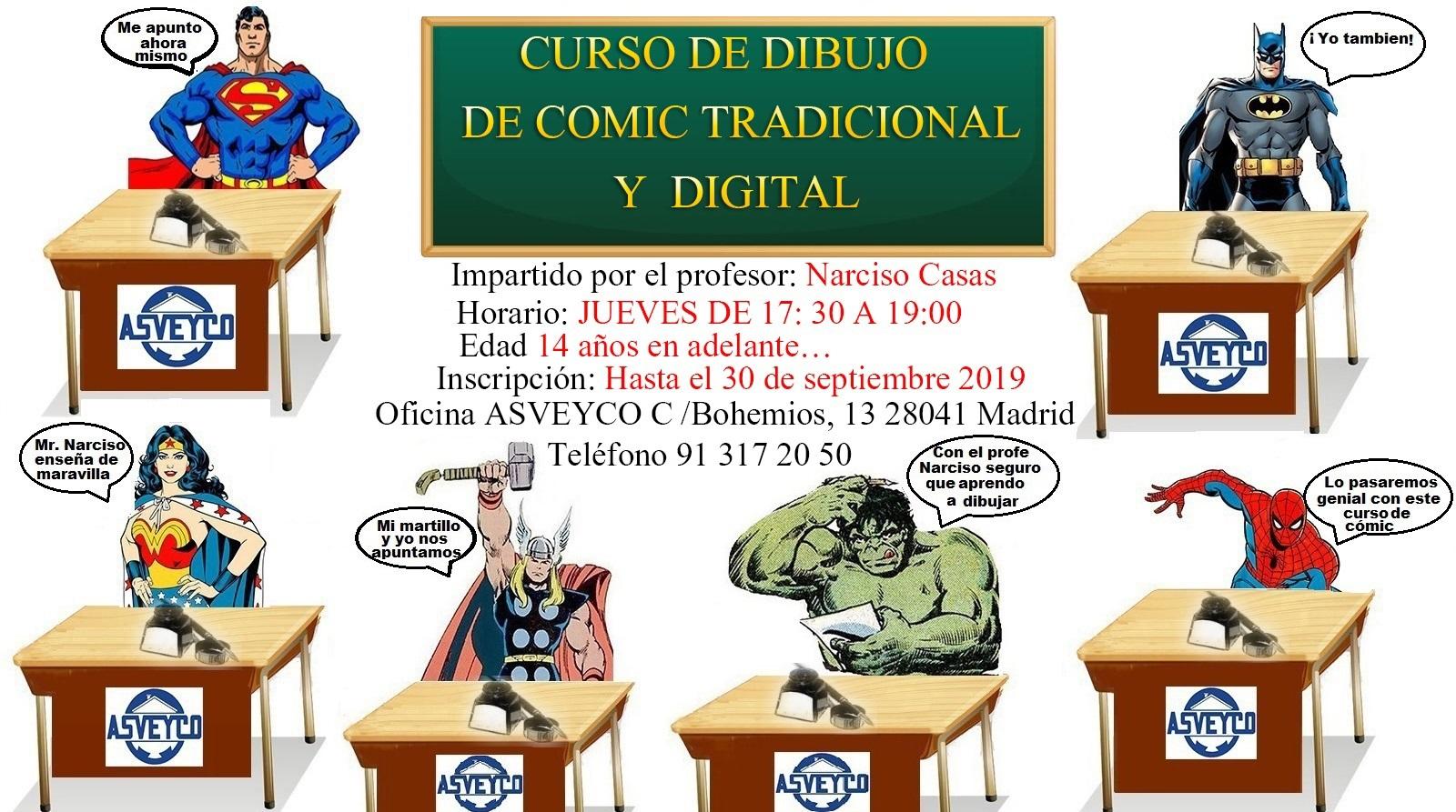 CURSO DE DIBUJO DE CÓMIC TRADICIONAL Y DIGITAL