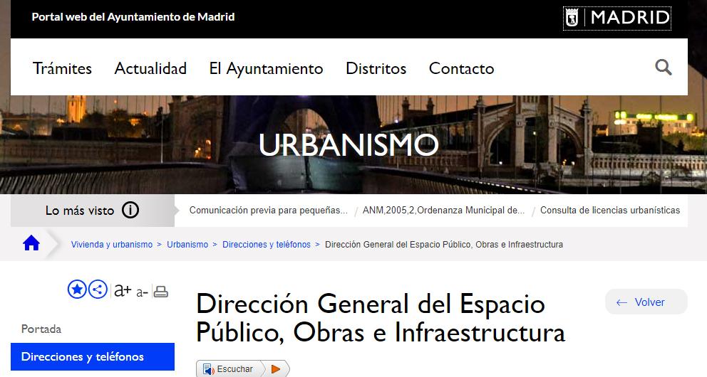 Dirección General de Espacio Público Obras e Infraestructuras