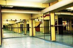 Detalle del aula de danza. Local de la Calle Pan y Toros nº 25
