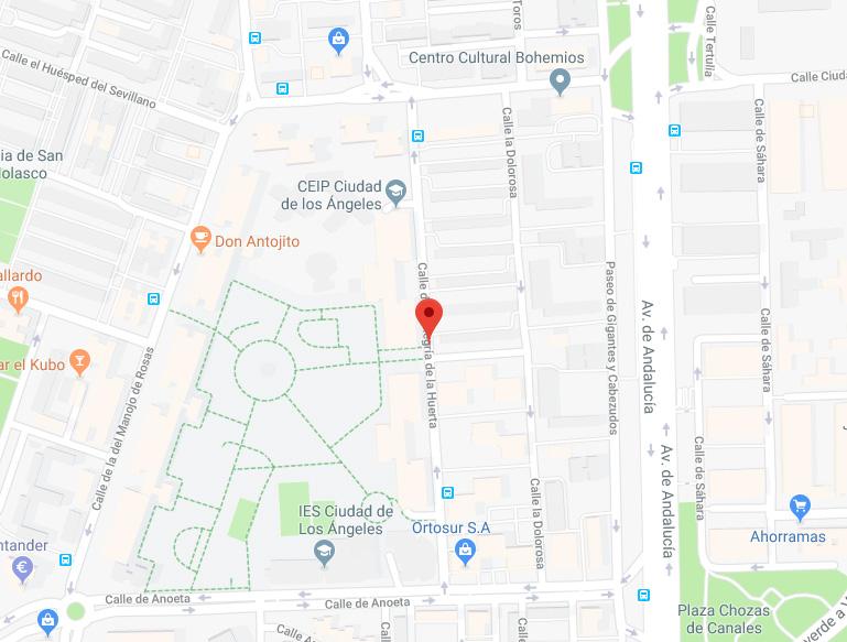 calles La Alegría de la Huerta, La Dolorosa y La Rosa del Azafrán